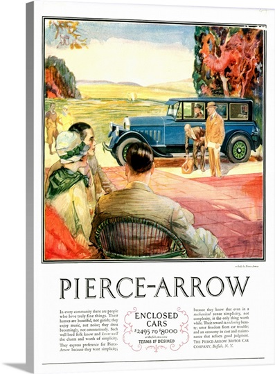 1920's USA Pierce-Arrow Magazine Advert Photo Canvas Print | Great Big ...: www.greatbigcanvas.com/view/1920s-usa-pierce-arrow-magazine-advert...