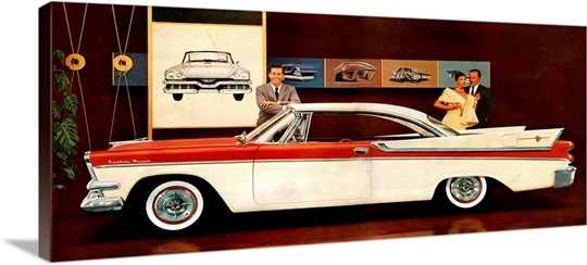 1950's USA Plymouth Magazine Advert (detail) Photo Canvas Print ...: www.greatbigcanvas.com/view/1950s-usa-plymouth-magazine-advert...