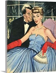 Happy Couple In Formal Wear
