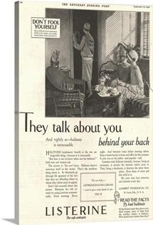 Listerine Antiseptic Advertisement