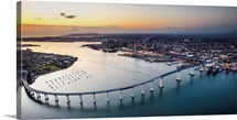 Aerial View of the Coronado Bridge, San Diego