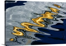 Abstract close up of color reflecting in water