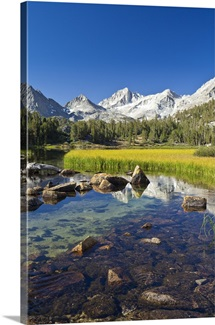 Clear Pool Near Snow-Capped Mountains, California