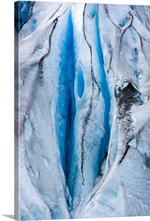 Close up detail of Shoup Glacier, Shoup Bay State Marine Park, Valdez, Southcentral