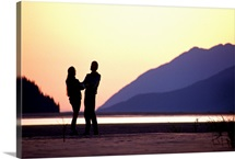 Couple at Sunset Turnagain Arm SC AK