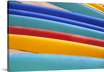 Detail Of Many Different Colored Surfboards