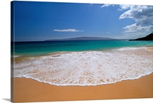 Hawaii, Maui, Makena Beach, Turquoise Ocean Shoreline