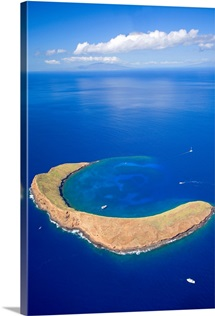 Hawaii, Maui, Molokini Crater, Aerial View