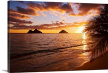 Hawaii, Oahu, Lanikai Beach At Sunrise