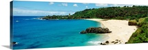 Hawaii, Oahu, Waimea Bay, View Of Beach And Ocean