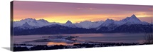 Homer Spit At Sunrise With Kenai Mountains, Kenai Peninsula, Alaska