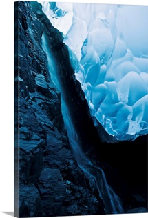 Ice Cave Inside The Mendenhall Glacier, Alaska