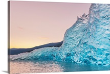Iceberg from the retreating Mendenhall glacier, Juneau, Alaska