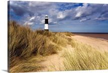 Lighthouse On Beach, Humberside, England