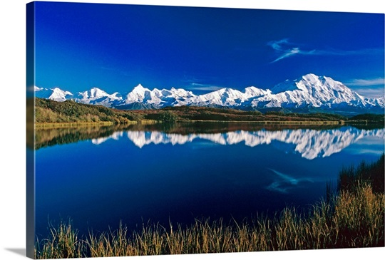 Mt McKinley Relfected in Wonder Lake Denali NP AK