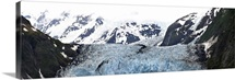 Panoramic view of Surprise Glacier in Harriman Fjord Prince William Sound