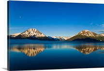 Panoramic view of Turnagain Arm and Kenai Mountains near Girdwood in Southcentral Alaska