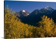 Polar Bear & Eagle Peak Chugach State Park & Mtns in Autumn Southcentral Alaska