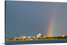 Rainbow over Anchorage, Summer, Southcentral Alaska
