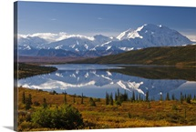 Scenic view of Mt. McKinley from Wonder Lake Denali National Park Interior Alaska