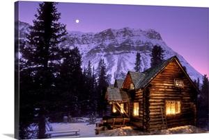 Skoki Cabin Banff National Park Alberta Canada Photo