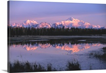 Southside Mt. Mckinley and Alaska Range Reflected in unnamed Lake
