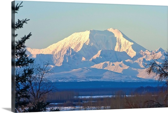 Sunrise on Mt. Foraker as seen near Talkeetna, Alaska