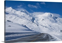 Thompson Pass during Winter just north of Valdez, Alaska