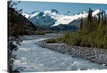 Tiekel River Worthington Glacier Scenic SC AK