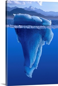 View Of An Iceberg Above And Below The Surface Of The