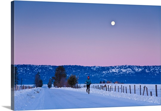 woman jogging in winter on rural road at dawn near mccall idaho,aks025jgbf0014 - The reason We Ought To Read Ashley Madison Review: The Dating Internet Site for Affairs