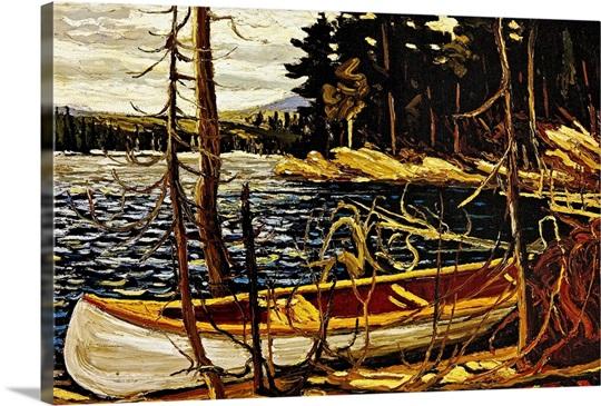 The Canoe Photo Canvas Print Great Big Canvas