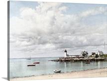 Annisquam Light Gloucester Massachusetts Vintage Photograph