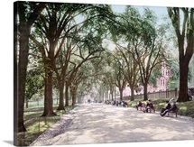 Beacon Street Mall Boston Massachusetts Vintage Photograph
