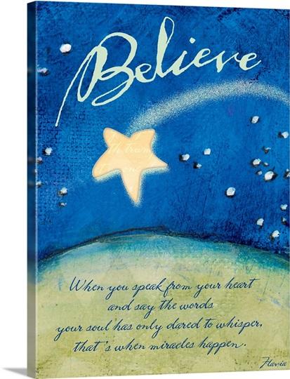 Believe Inspirational Print