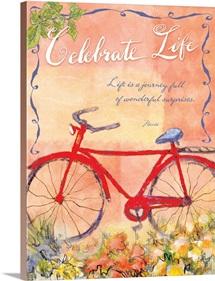 Celebrate Life Inspirational Print