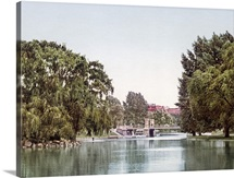 Lake in the Public Garden Boston Massachusetts Vintage Photograph