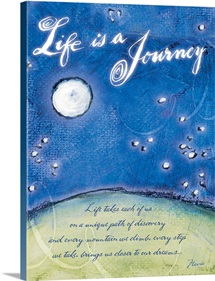 Lifes Journey Inspirational Print