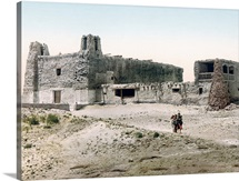 Old Church at Pueblo of Acoma New Mexico Vintage Photograph