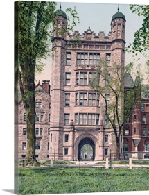 Phelps Hall and Gateway Yale College Connecticut Vintage Photograph