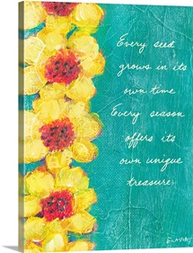 Sunflower Inspirational Print