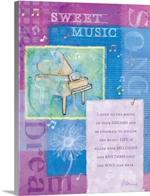 Sweet Music Inspirational Print