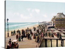 The Board Walk Atlantic City New Jersey Vintage Photograph
