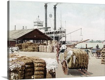 The Cotton Docks Mobile Alabama 1 Vintage Photograph