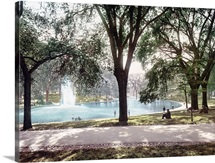 The Frog Pond Boston Common Massachusetts Vintage Photograph