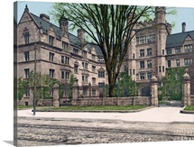 Vanderbilt Hall Yale College Connecticut Vintage Photograph