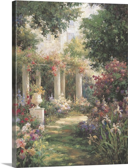Ancient Garden Columns Great Big Canvas
