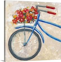 Blue Floral Bicycle