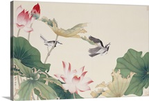 Birds By Lotus Pond