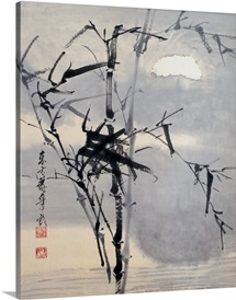 Black Bamboo on Water